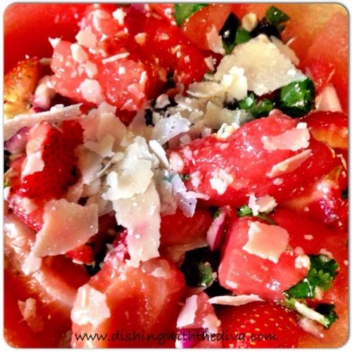 Watermelon & Blackberry Salad